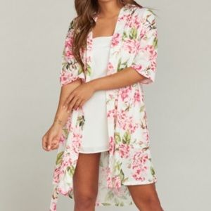 Show Me Your MuMu Brie Robe Garden Of Blooms 0/S